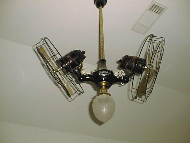 Antique electric fans for Ceiling fan motor screws
